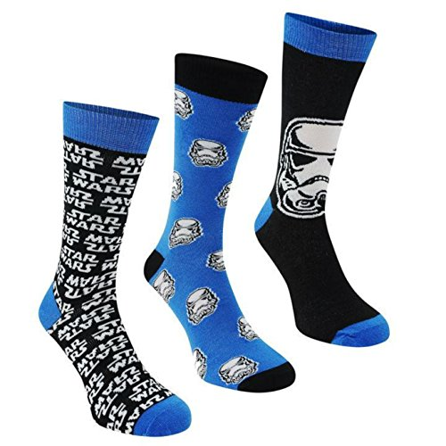 Sexy R2d2 Costumes (Star Wars Stormtrooper 3 Pack of Big Foot Socks for Mens 12+)