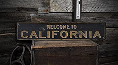Welcome to CALIFORNIA, KENTUCKY - Rustic Hand-Made Vintage US City Wooden Sign