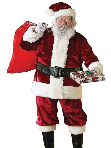 Adult XXL Crimson Regency Plush Santa Suit (Santa Suit Regency)