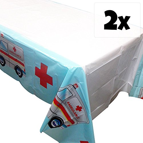 Doctor Party Tablecovers - 54in x 108in (2) (Nurse Party Decorations)