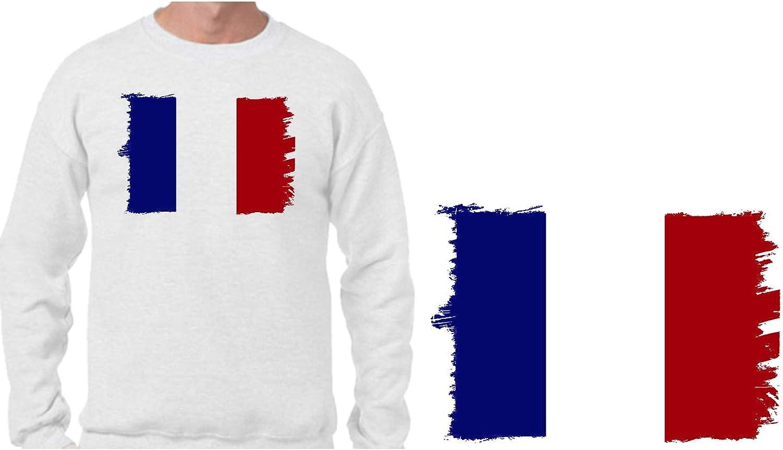 MERCHANDMANIA Sudadera Bandera DE Francia Sweatshirt: Amazon.es: Ropa y accesorios
