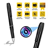 Hidden Camera, 1080P Spy Camera Pen, Monja Mini Spy Cam, Nanny Camera Pen, Spy Pen Cameras, 2.5 Hours Video Taking Battery Life for Business, Conference and Security, with 32GB Memory Card