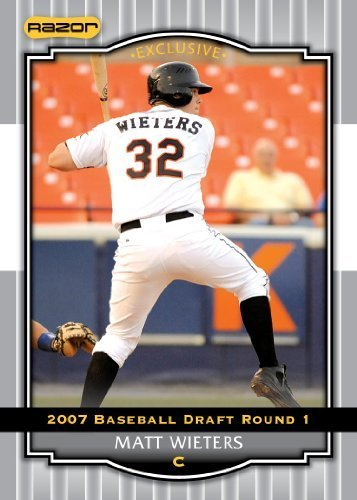 Silver Limited Edition Baseball Cards - 2008 Razor Signature Series Silver Limited Edition Baseball Card # 54 Matt Wieters (Prospect - RC - Rookie Card) Baltimore Orioles - MLB Baseball Trading Card