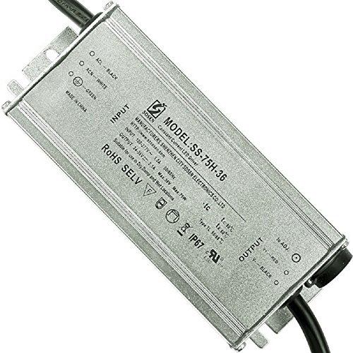 - Sosen SS-75H-36 75 Watt LED Driver 24-36V Output 2100mA Constant Current