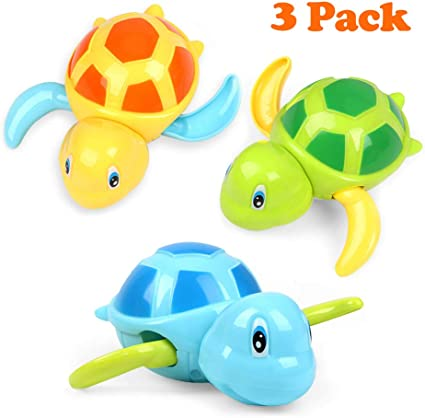 Baby Bath Toy Turtle Interaction Wind-up Bath Toy Bathtub Toys for Toddlers Floating Toys