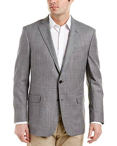 Brooks Blazer - Brooks Brothers Mens Explorer Regent Fit Wool-Blend Sportcoat, 46R, Grey
