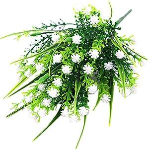 Fityle 4pcs Plastic Artificial Baby'S Breath Flower Arrangement Grass Gypsophila Flower Wedding Floral Decor 7
