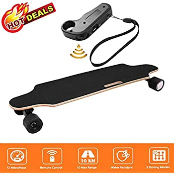 Image of Aceshin 35.4' Electric Skateboard with Remote Control for Adults Teens Youths 250W Dual Motor 20KM/H Top Speed 10 KM Range Longboard 7 Layers Maple Waterproof IP54 E-Skateboard Sport