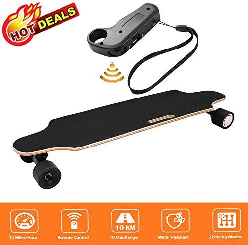 "Aceshin 35.4"" Electric Skateboard with Remote Control for Adults Teens Youths 250W Dual Motor 20KM/H Top Speed 10 KM Range Longboard 7 Layers Maple Waterproof IP54 E-Skateboard"