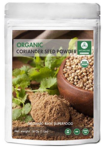 Coriander Seed Powder, 1 Pound - 100% Pure, Natural & USDA Organic Certified