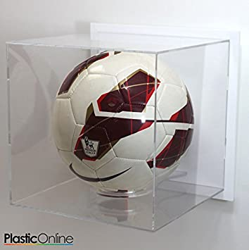 Plastic Online Ltd Football Display Case Wall Mounted White Enchanting Football Display Stand Plastic