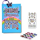 SMITCO Light Up Diary - 5, 6, 7, 8, 9, 10 Year Old Journal Set with Lined Pages and Stickers