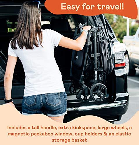 51ZwgO0RQJL - The Tour+ (Zoe XL1) - Best Everyday Single Stroller With Umbrella - Tandem Capable - UPF 50+ - Lightweight