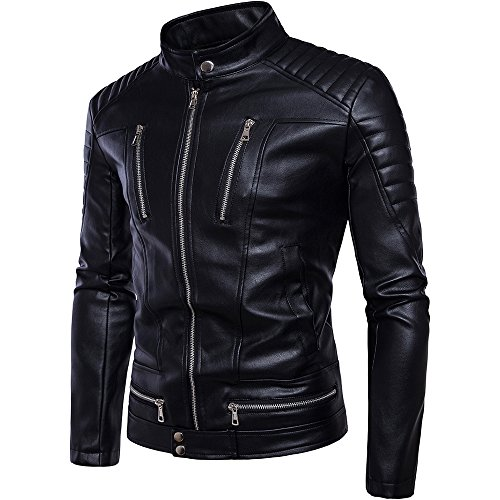 Slim Leather Motorcycle Jacket - 9