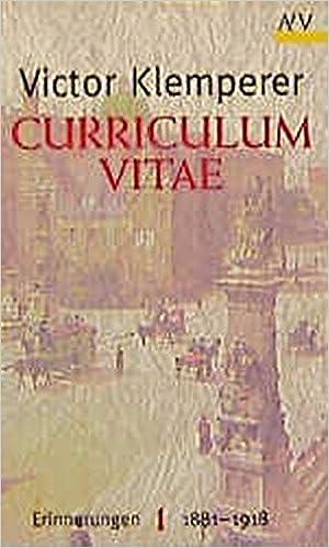 curriculum vitae klemperer