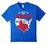 the united states of america not texas USA flag t shirts