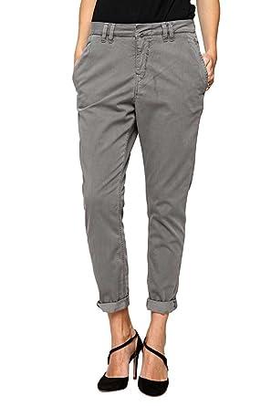 Drykorn Damen Hose Chino-Hose DRIP, Farbe  Grau, Größe  26 34  Amazon.de   Bekleidung ac3a008294
