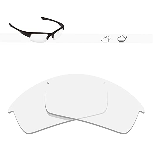 0ca15476e7 Glintbay 100% Precise-Fit Replacement Sunglass Lenses for Oakley Bottlecap  - Crystal Clear Non