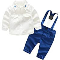 Ropa Bebe,Abrigo Niña,Infant Baby Boys Gentleman Camiseta Sólida