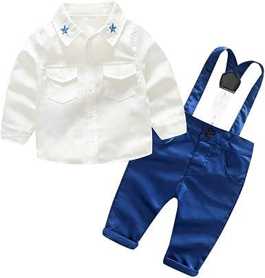 Oyedens Infant B/éb/é Gar/çon Nouveau-n/é V/êtements De B/éb/é Ensembles Toddler /À Manches Longues Chemises Shirt Set Gentlemen Jeans