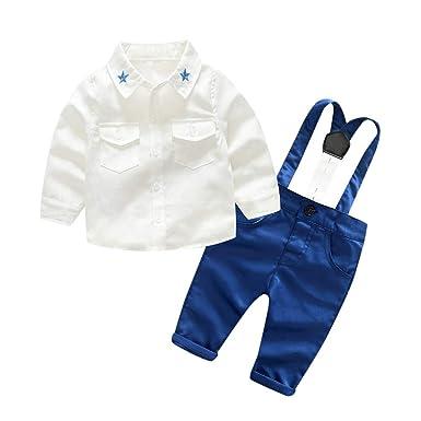 d66771d47970b Oyedens Infant Bébé Garçon Nouveau-né Vêtements De Bébé Ensembles Toddler À  Manches Longues Chemises