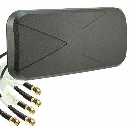 Taoglas MA450 Storm 5in1 Permanent Mount Antenna LTE MIMO2 + WIFI MIMO2 + GNSS by Taoglas