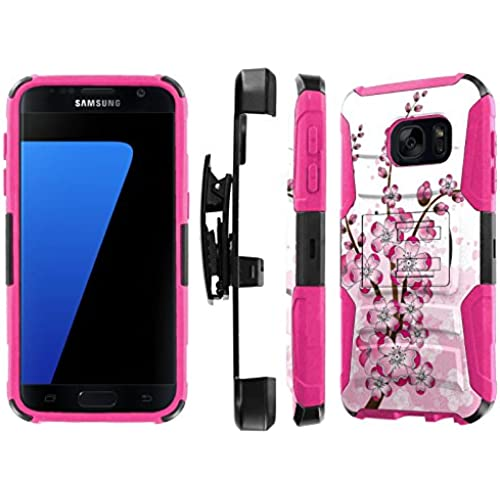 S7 / GS7 [5.1 Screen] Case, [NakedShield] [Black/ Hot Pink] Heavy Duty Holster Armor Tough Case - [Sakura ] for Samsung Galaxy S7 / GS7 [5.1 Screen] Sales
