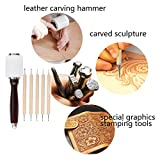 UOOU Leather Stamp Tools, Leather Carving