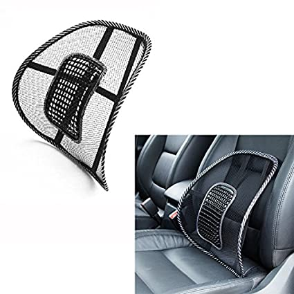 VaThaStore Universal Car Chair Back Support Massage Cushion Mesh Lumbar Brace Pillows Seat And