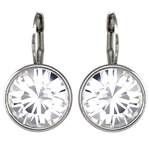 Swarovski Pierced Earrings Bella (CP Baby Mini Bella Clear Crystal Rhodium-plated Earrings Made with Swarovski Crystals)
