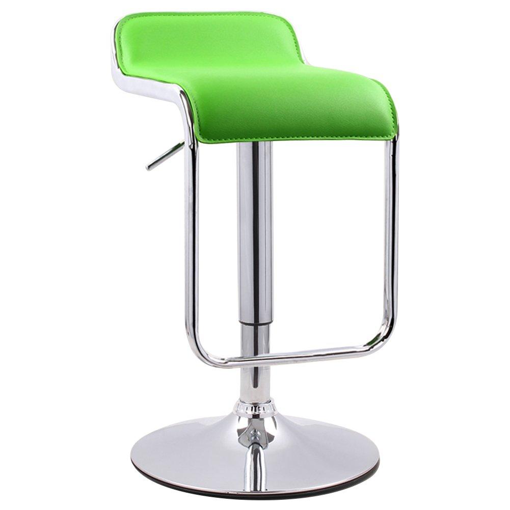 Mesurn JP PUレザー調節可能スイベルガスリフトバースツール、360度ロータリー、最大重量容量130kg、12色 (色 : 緑, サイズ さいず : 41センチメートル) B07D8S4QK4 41センチメートル 緑 緑 41センチメートル