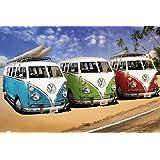 1art1 52985 - Póster con Volkswagen Bulli en la playa, 91 x 61 cm