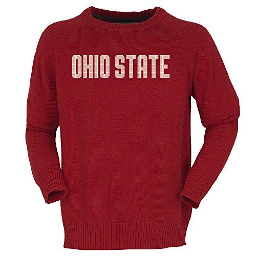 NCAA Ohio State Buckeyes Mens Intarsia Crewneckintarsia Crewneck, Red, X-Large