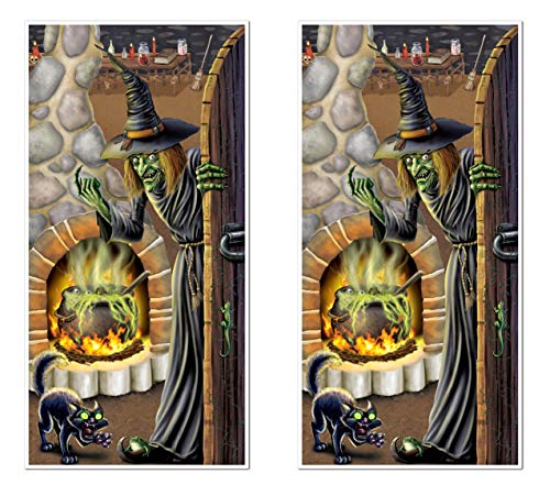 Beistle S00023AZ2 Witch's Brew Door Covers 2 Piece, 30