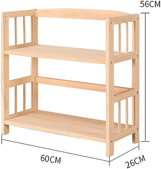 MultifuncióN Estante Almacenamiento Baldas Soporte de exhibición de libros de madera for niños, estante de escalera multifuncional Organizador for niños, 5 estantes, Natural-E 60x26x120cm (24x10x47 pu: Amazon.es: Hogar