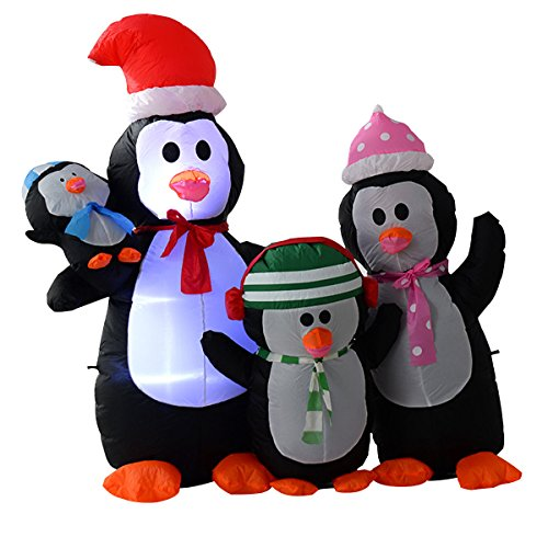 5Ft Airblown Inflatable Christmas Penguin Family Decor Lighted Lawn Yard Outdoor Happy - Stores In Boulevard Mall