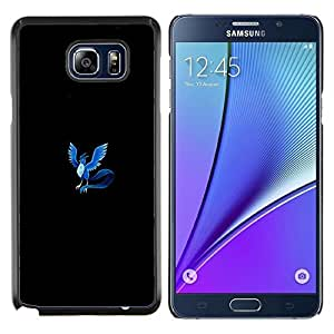 Meter Blue Monster Phoenix- Metal de aluminio y de plástico duro Caja del teléfono - Negro - Samsung Galaxy Note5 / N920