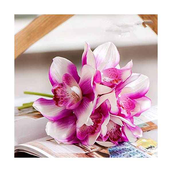 Super Gsd2Ff Real Touch Cymbidium 7 Heads Table Decoration Flower Download Free Architecture Designs Licukmadebymaigaardcom