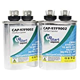 2-Pack 10 MFD 370 Volt Oval Run Capacitor Replacement for Carrier / Bryant / Payne P291-1003 - CAP-97F9002, UpStart Components Brand