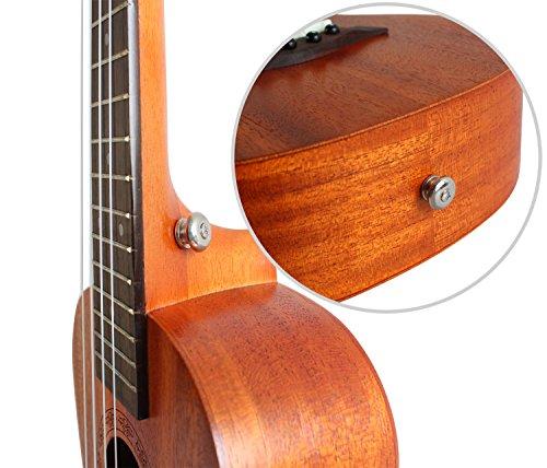 Concert Ukulele Mahogany 23 inch with Ukulele Accessories,Gig Bag,Strap,Nylon String,Electric Tuner,Picks - Image 6
