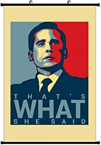 That's What She Said - Michael Scott - The Office Us Wall Scroll Poster Hanging Home Art Print Hanger Decor Painting 20x28 Inch