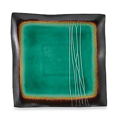 Baum Galaxy Square Platter, Jade