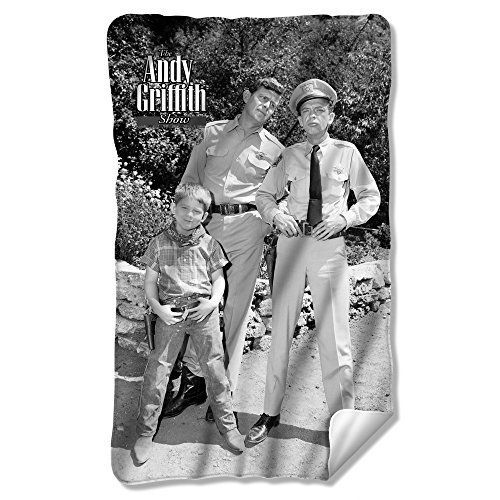 ANDY GRIFFITH/LAWMEN-FLEECE BLANKET-WHITE-ONE SIZE FITS ALL by Chucklehead Toy Store [並行輸入品] B01AHGMW8Y