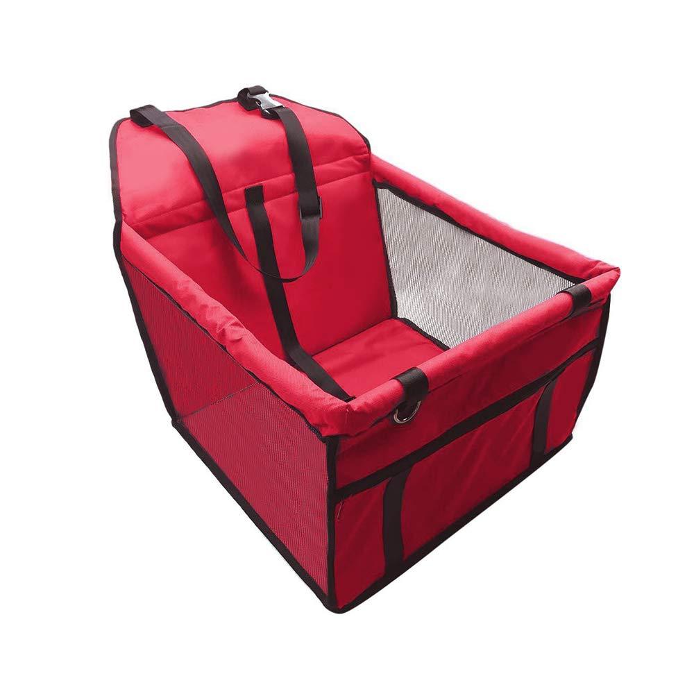 Colourstone Dog Car Carrier, Waterprofe Pet Dog Cat Set/Belt/Booster Seat Travel Carrier Bag Cage Kennel Playpen Easy Folding (Black)