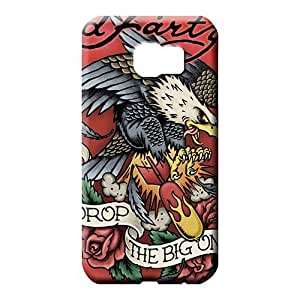 samsung galaxy s6 edge Strong Protect New Arrival Awesome Look mobile phone carrying skins ed hardy famous top?brand logo