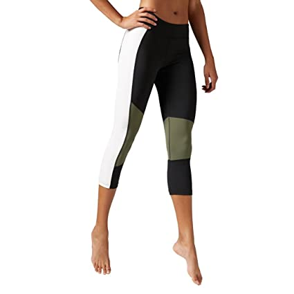 063f48704205a Amazon.com: Reebok Women's D Colorblock Capri, Black, X-Small ...