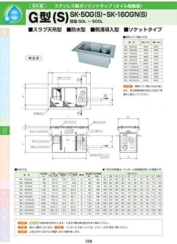 G型(S) SK-140GN(S) 耐荷重蓋仕様セット(マンホール枠:ステンレス / 蓋:ステンレス ) T-2