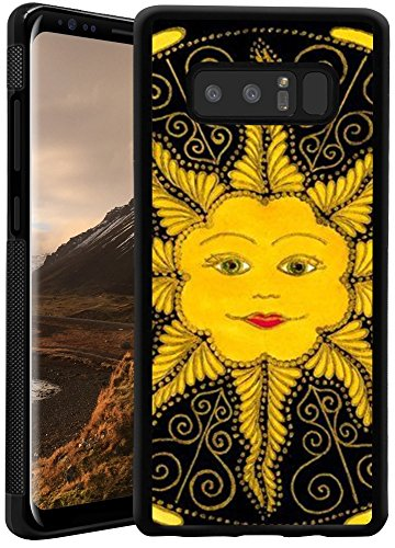 Suowen Customized Galaxy Samsung Note 8 Phone Case, Shock Absorbing TPU , Thin Lightweight Printed Cover Case Personality A yellow smile on the sun patterns Case cover ()