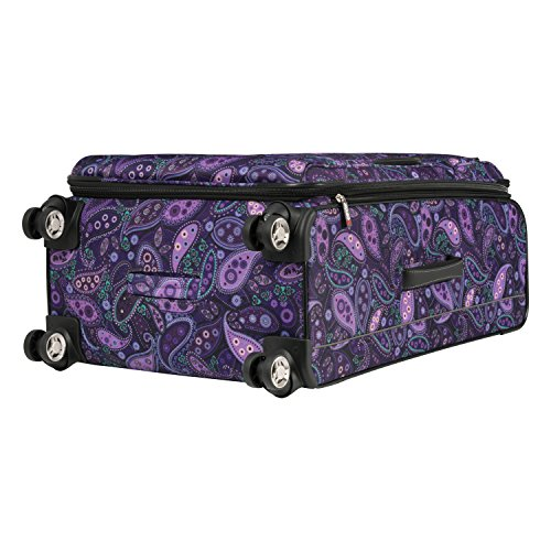 Ricardo Beverly Hills Mar Vista 4 Wheel Expandable Upright, Purple Paisley