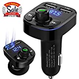 AIKESI FM Transmitter for Car Bluetooth Portable Wireless Radio Adapter&Mp3 Music Stereo Adapter Dual USB Ports Car Charger Quick Charge 3.0 Handsfree Call Car Charger for iPhone/Samsung/LG